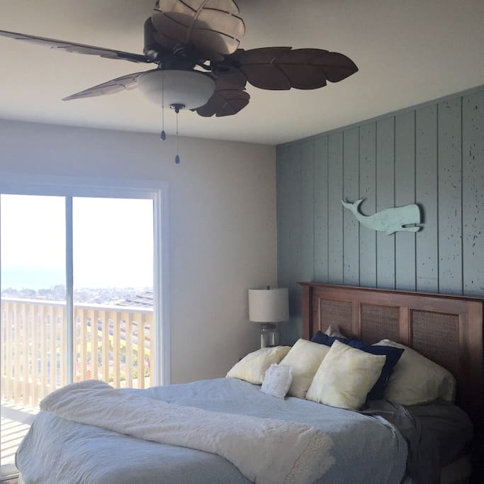 Your master bedroom with beautiful ocean views from Catalina Island to San Diego!