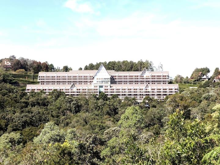 Apartamento duplex no alto da montanha