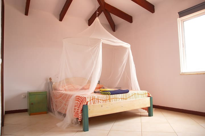 Mosquito net detail at double Kite beach