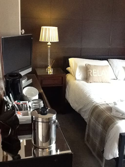 Complimentary tea and coffee in your room