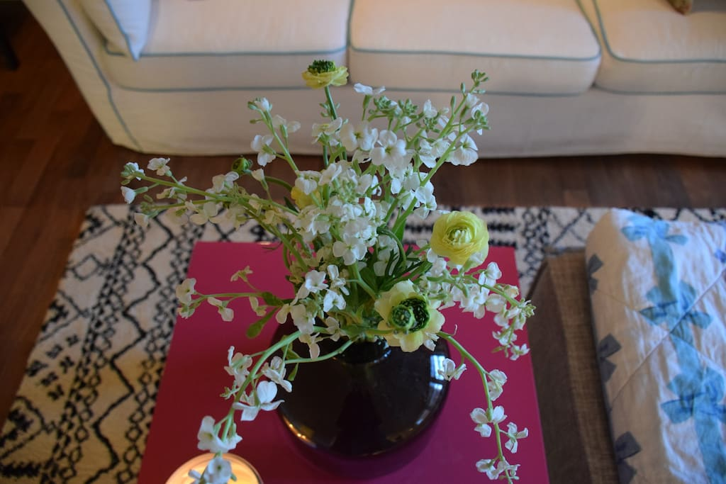 Fresh flowers complete any room.