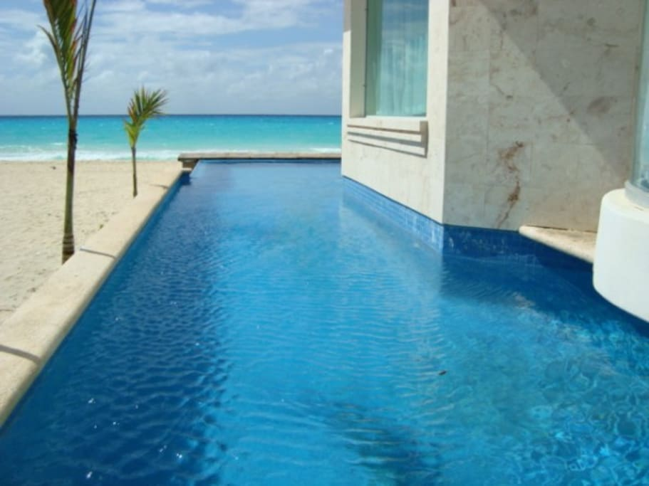 YOUR VIEW FROM OUR  PRIVATE SWIMMING POOL