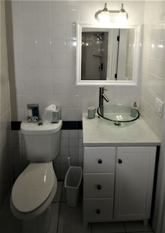 All new bathroom fixtures