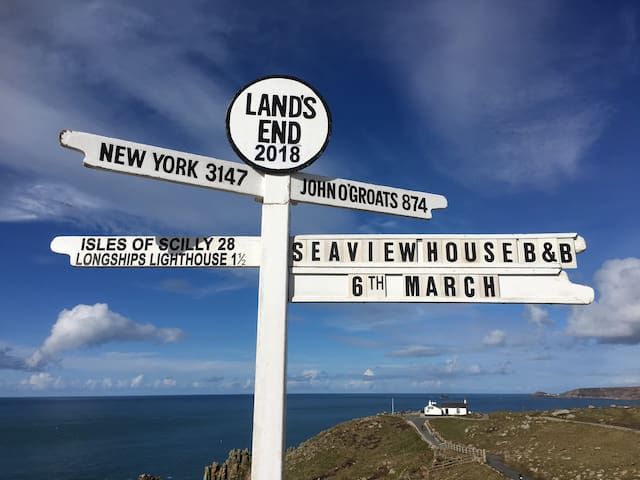 Seaview House b&b ,  A30 , Sennen , Lands End