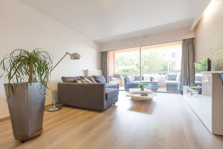 2P+C+garage+terrasses, calme, design,pratique,cosy
