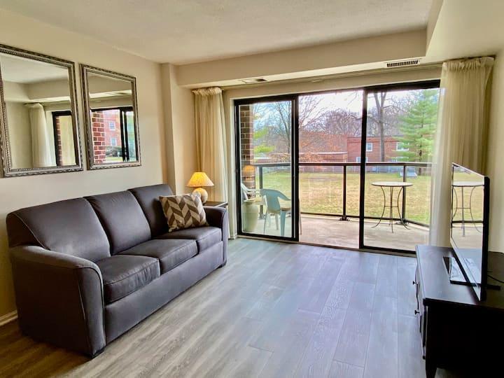 1 bedroom with garden view terrace