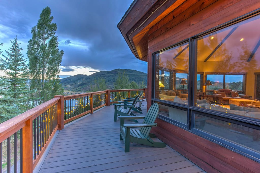 Bask in the views of Mount Werner & the resort from the 360-degree porch.