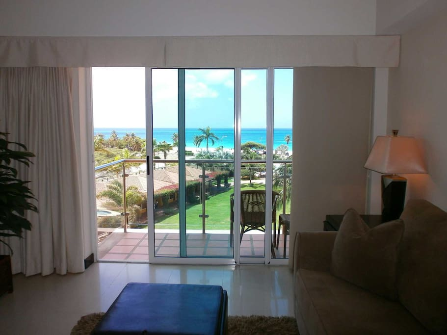 Breathtaking ocean and pool view from your living room balcony