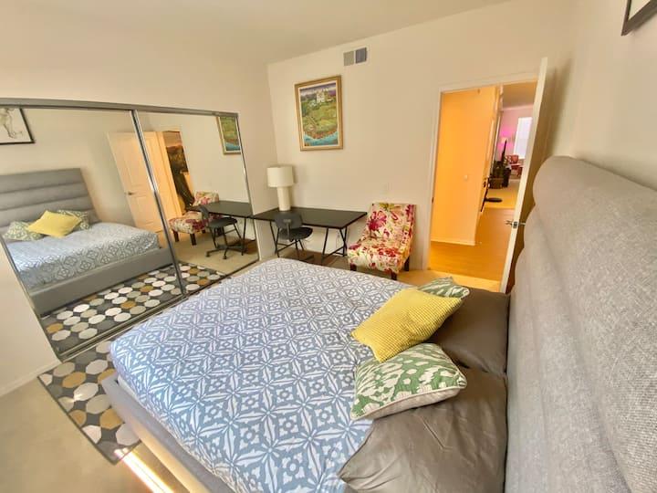 尔湾高端小区单人间private room(one room of two bedroom apt)