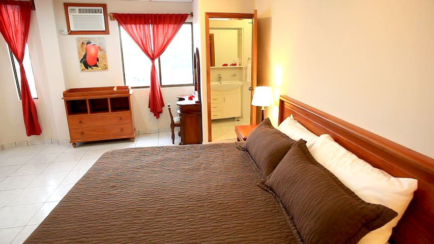 Red Master Bed-Room