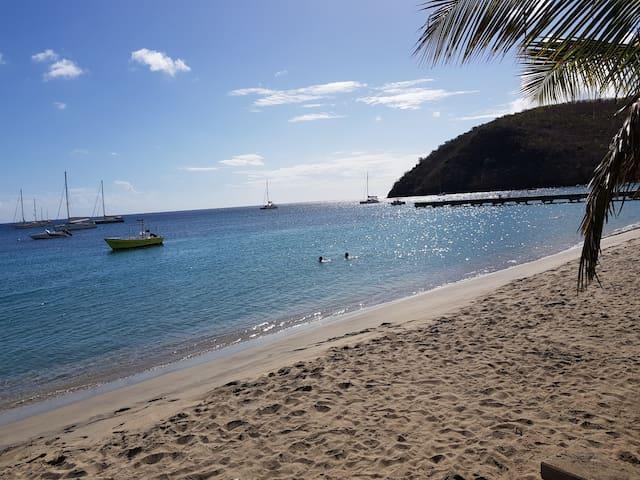Joli Studio proche de la mer des Caraïbes .