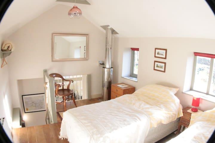 Bedroom on mezzanine floor