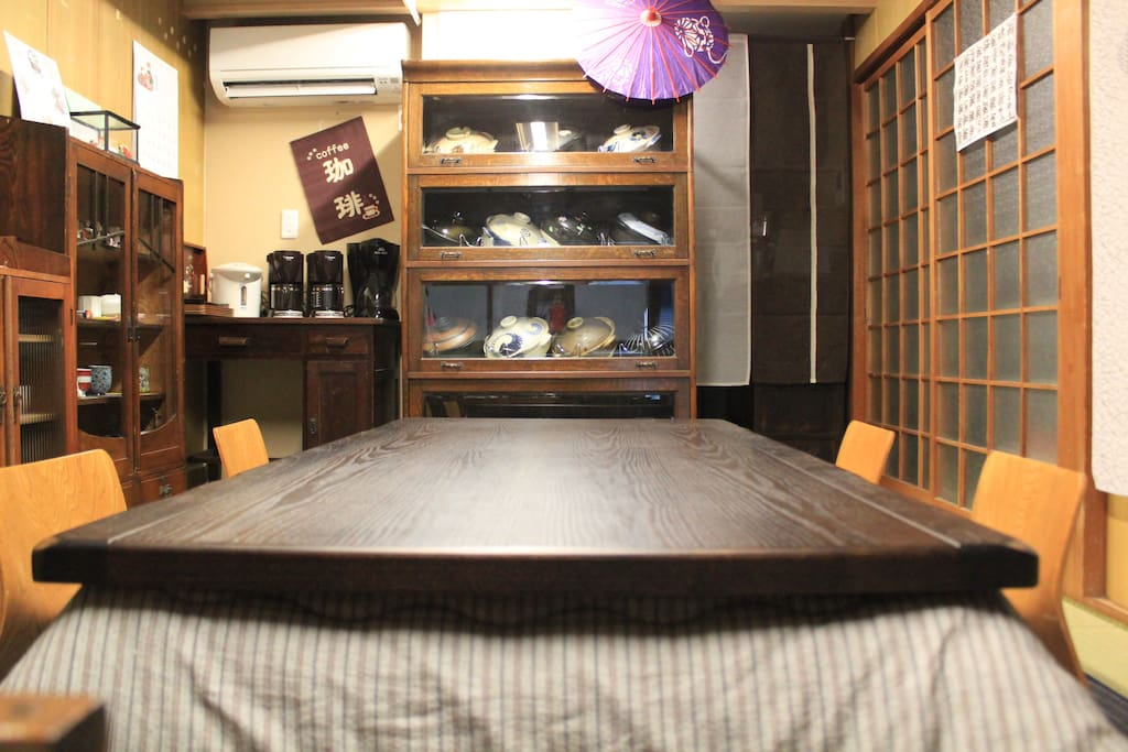 Share space : KOTATSU room Let's have a chat,with earthen pot dishes.