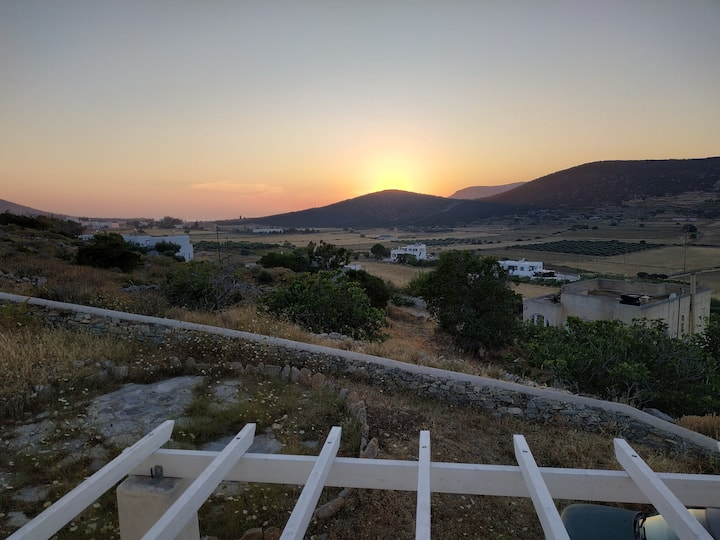 Traditional Villa with view at Marathi, Paros.