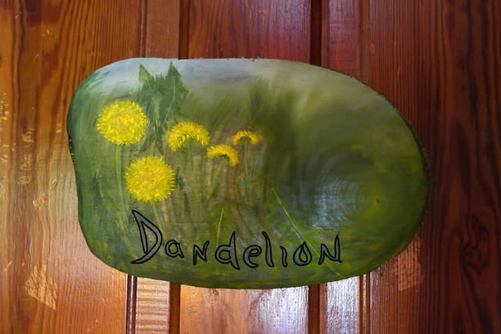 The Dandelion Room at the Laughing Heart Lodge