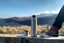 Have a cup of tea high up over Caragh Lake