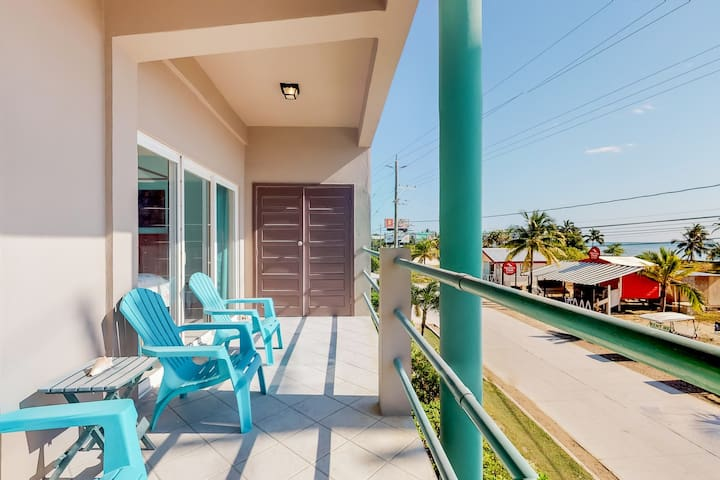 Ocean view second floor condo with private balcony overlooking the Caribbean