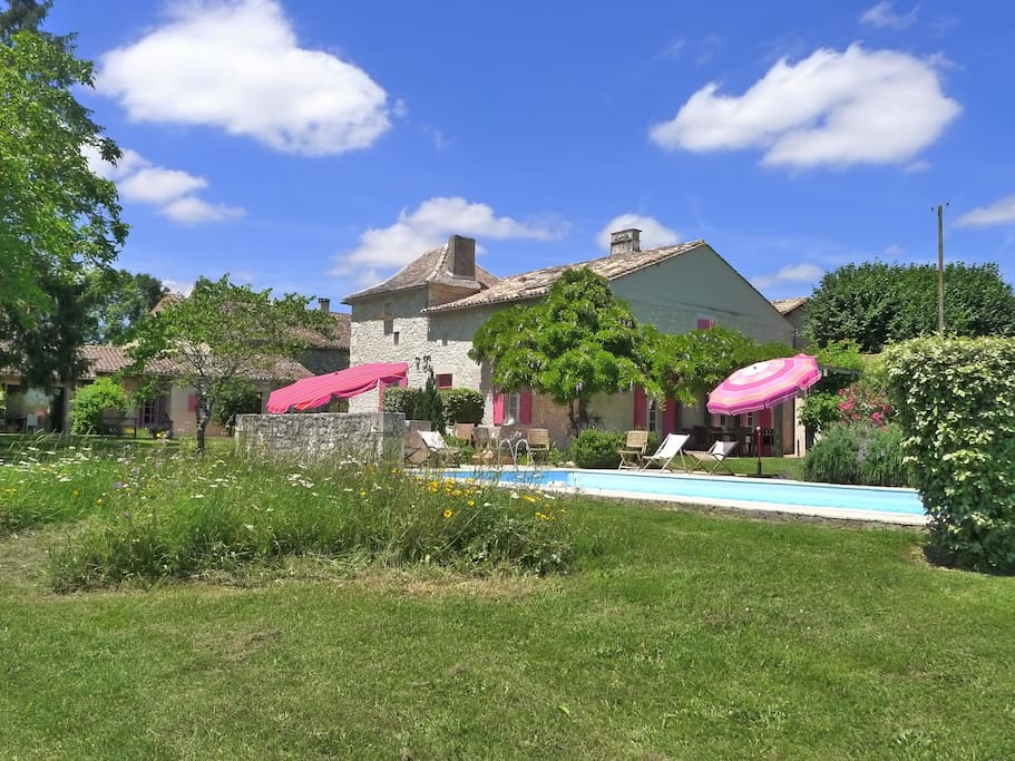 View of Pool, Farmhouse, Grange