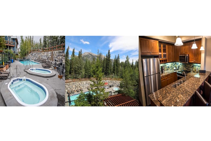 ⭐Hot Tubs+Heated Pool⭐ 15min to⛷ + KingBed ⛰️Views