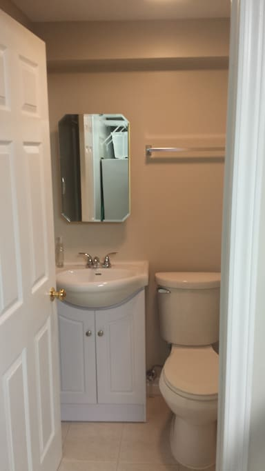 Your own private bathroom with shower.