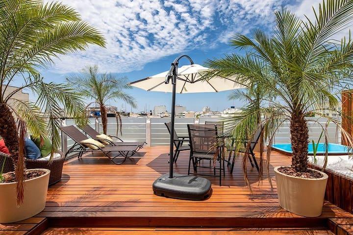 Ático de lujo con terraza, barbacoa y piscina - 4 dormitorios