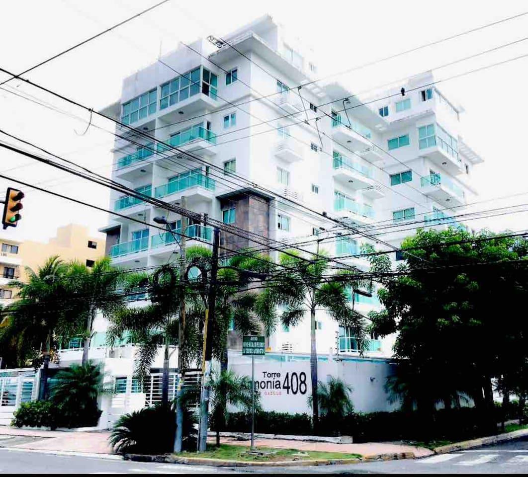 Edificio donde está el alojamiento