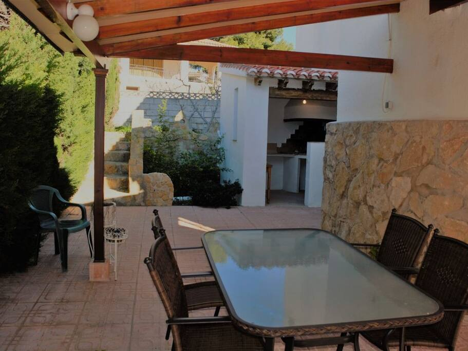 Outside seating / dining area