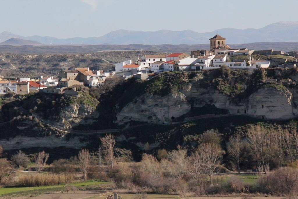 Vista de Benamaurel desde la casa