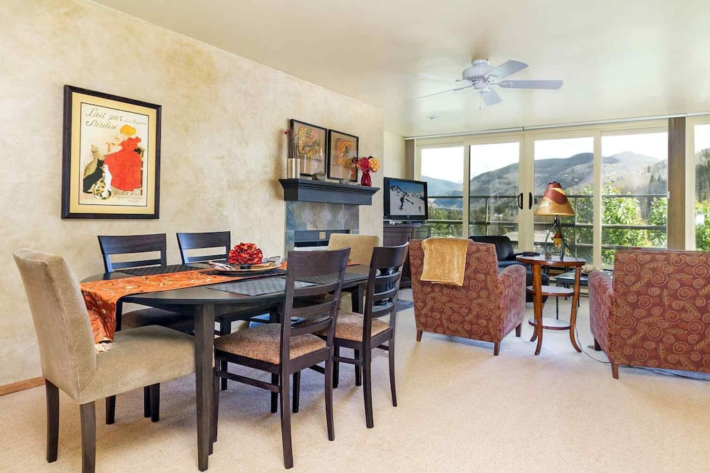 Open floor plan gives you the opportunity to enjoy the views from the kitchen, dining and living room.