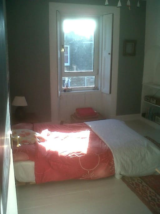 Sunny mornings in our guest room