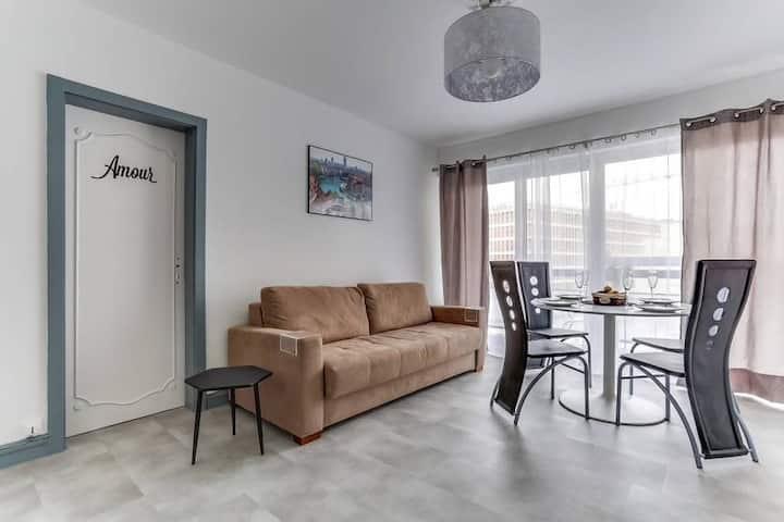 Le 27 - Cosy Apartment Lyon Part-Dieu + parking