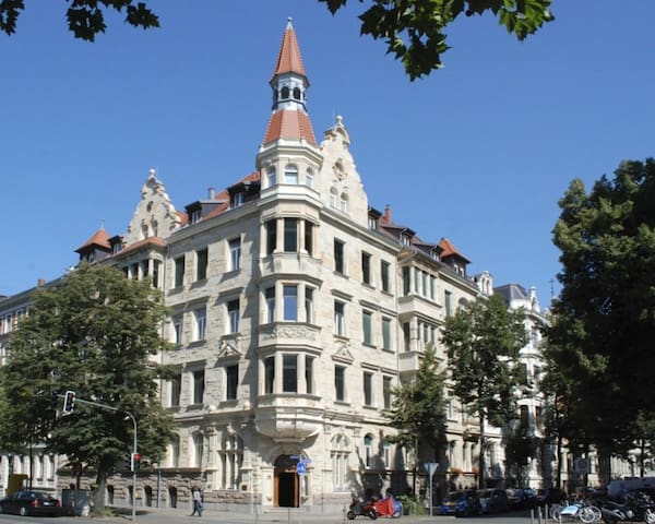 Central historic 2-room Deluxe-Apt. + free parking - Lipsk - Apartament