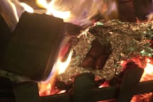 Chestnuts roasting on an open fire (and we have marshmallow sticks for the kids too!
