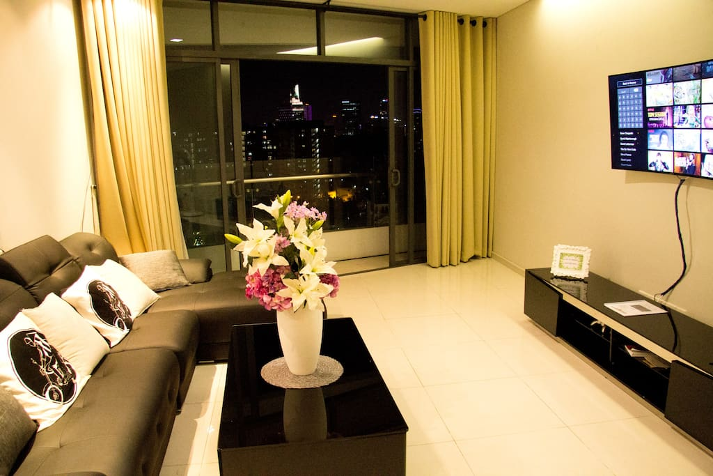 View of Bitexco Tower District 1 from living room