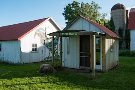 Lovely Well House on an Organic Fruit Farm - 小屋