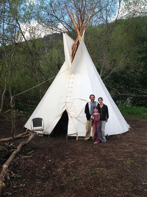 """Romantic Riverview Teepee"""
