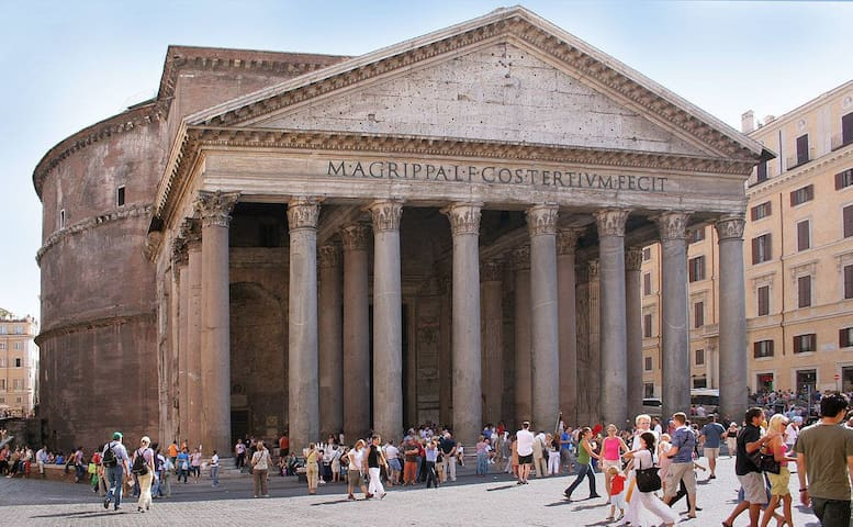 Pantheon is 26 min with the bus 492 in the front of our building