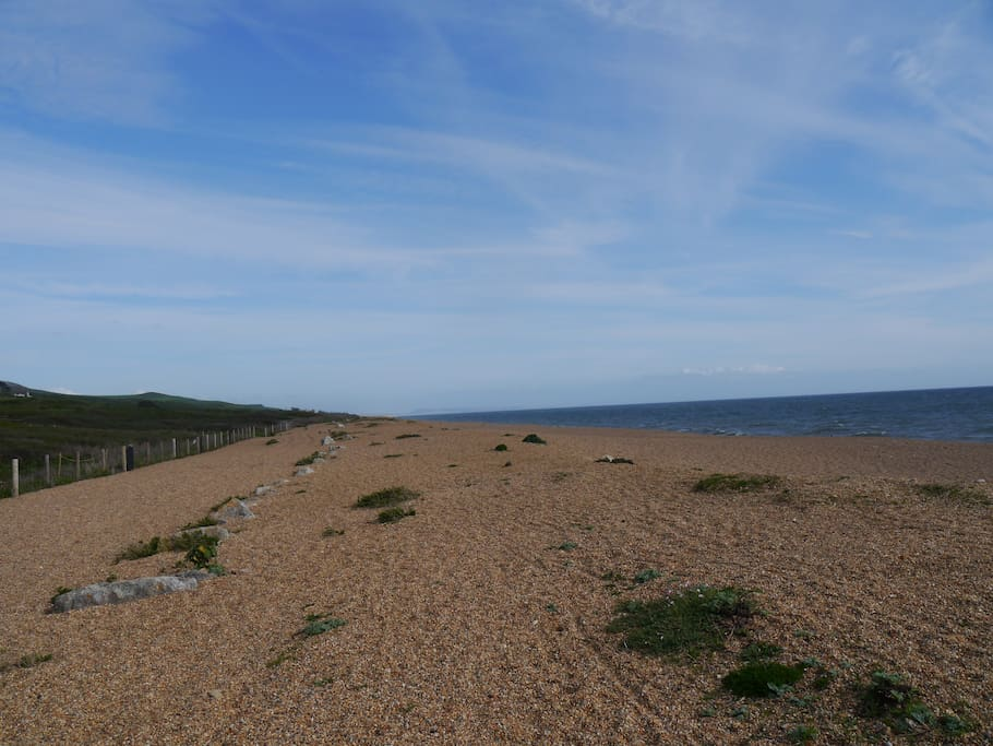 Along Chesil beach.