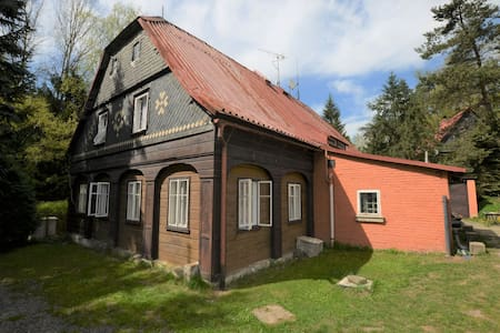 Detached holiday home with 5 bedrooms and billiards in northern Bohemia