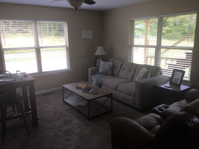 LR queen pull out couch & love seat rocker/recliner