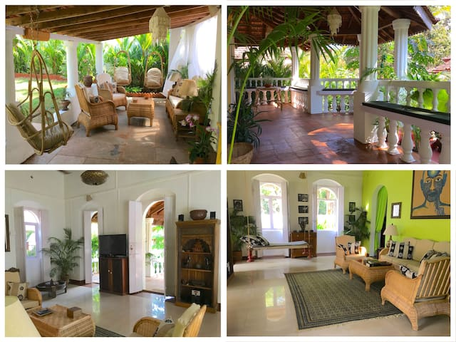 VILLA LOU Goan Villa + Daily Maid, 15 min to Beach - Verla Canca - Casa