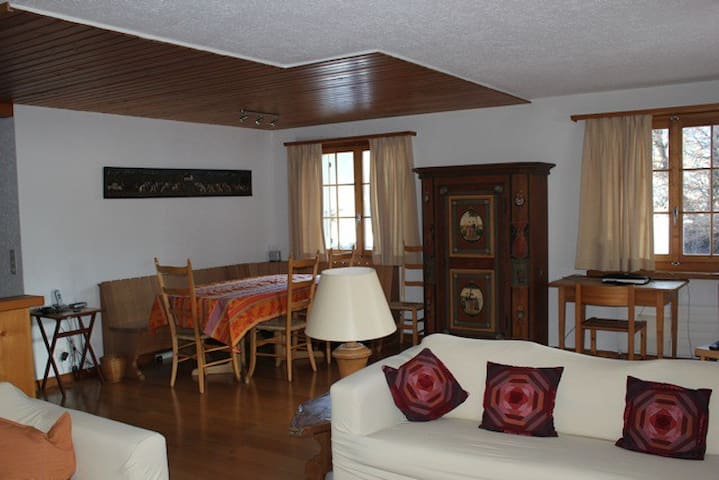 Charming and cosy apt Saanen near Gstaad 5/6 pers