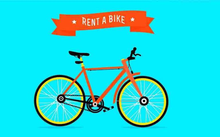 Rental bikes inside B&B