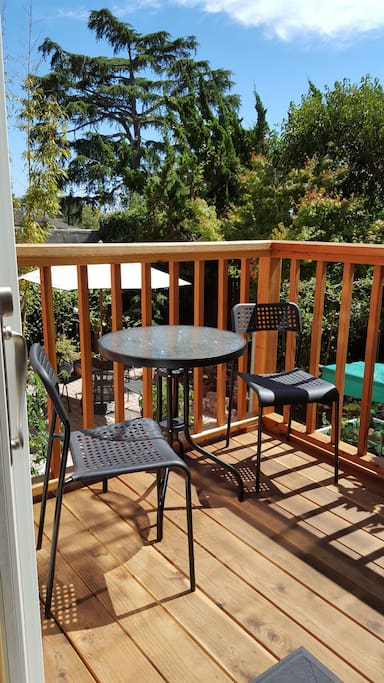 The entry to your room includes your private deck