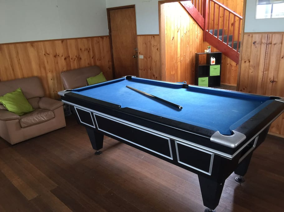 Downstairs Pool room also has one bed and one stretcher bed next to it.(linen not included)