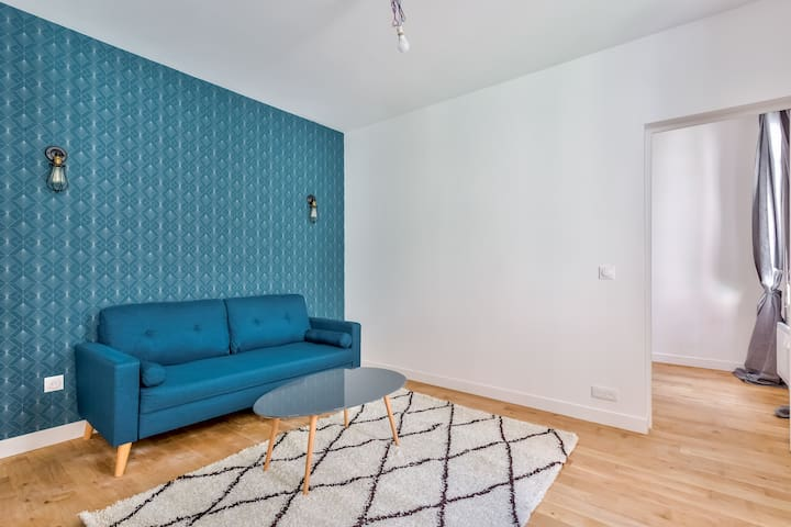 Cosy renovated 1-bedroom flat close to Montmartre