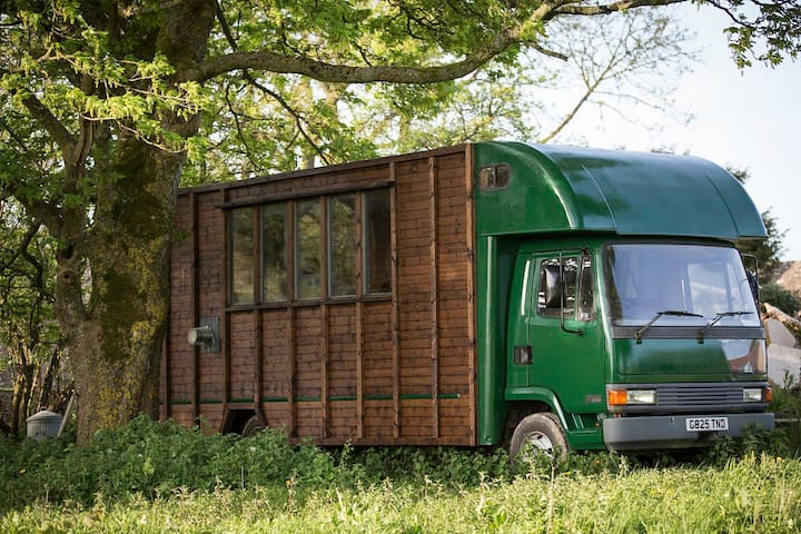 Stylishly converted horse lorry in the Cotswolds