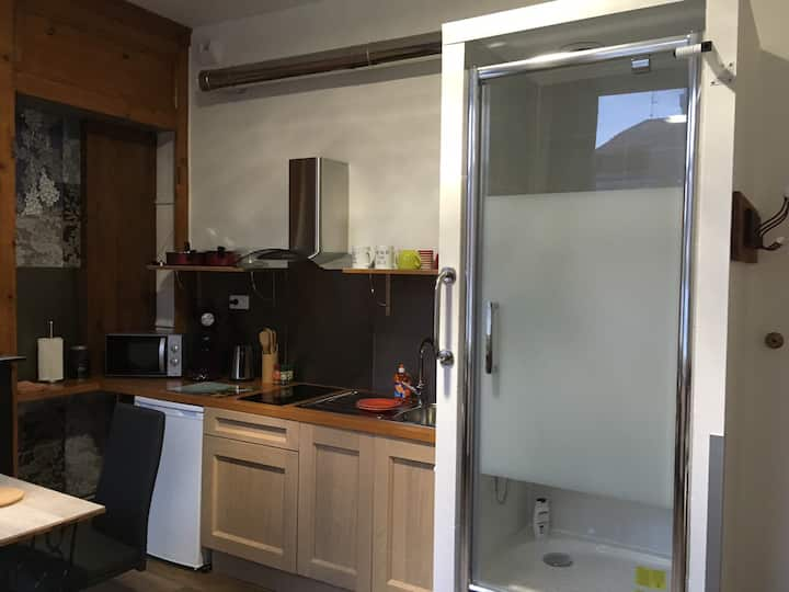 Studio accès comme dans Hôtel 50m métro Marbrerie