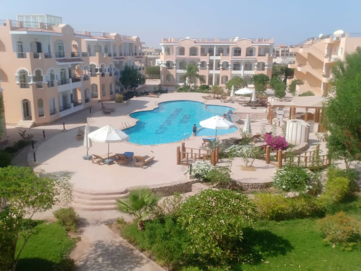 2 Bedroomed apartment with shared pools