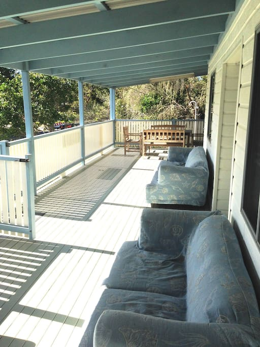 Relax with family and friends on the front verandah